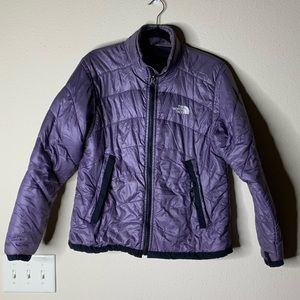 The North face purple puffer jacket